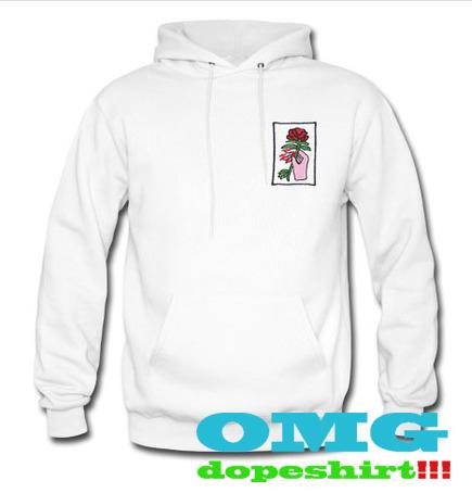 Okinawa Rose sweatshirt and hoodie
