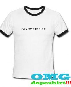 Wanderlust ringer t shirt