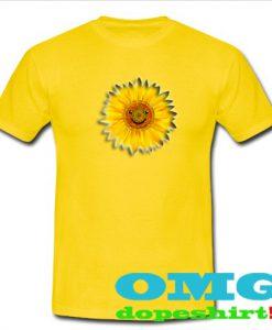 sun flower smile t shirt