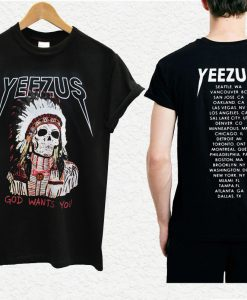 Yeezus Indian Skull T-shirt