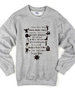 Never Grow Up Sweatshirt