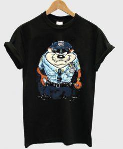 Tazmanian Devil Police T-shirt