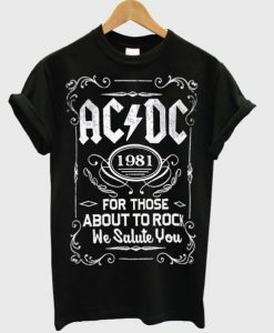 ACDC 1981 For Those About To Rock Tshirt