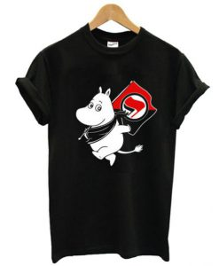 Antifa Moomin Anti Fascist T-shirt