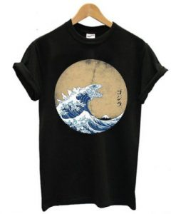 The Great Wave Off Kanagawa Godzilla T-shirt