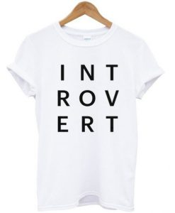 Introvert Typography T-shirt