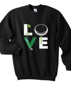 Love Golf Typo Sweatshirt