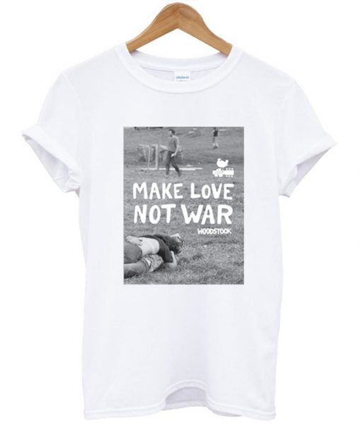 Make Love Not War Woodstock T-Shirt