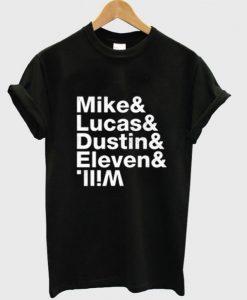 Stranger Things Cast Name T-Shirt